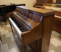 Kimball walnut console piano