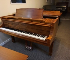 """Steinway """"A2″ 6'2"""" mahogany grand with Steinway bench"""